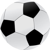 soccer ball illustration, black and white poster
