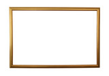 large golden frame isolated w/ path poster