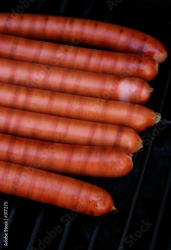 hotdogs on the bbq