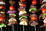 top view of bbq sticks poster