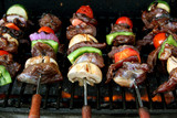 front view of bbq sticks poster