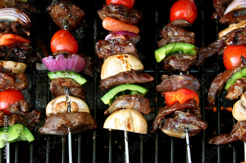 poster of top view of bbq sticks