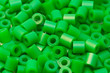 green plastic beads
