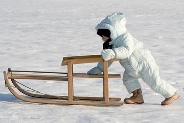 pushing my sled