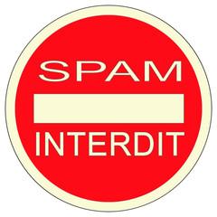 panneau anti spam