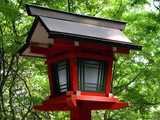 japanese wooden lantern poster