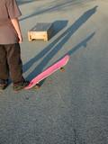 skateboarder contemplating trick poster