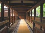 wooden corridor poster