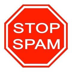 panneau stop spam