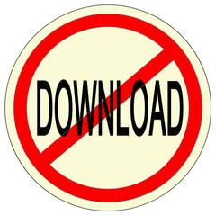 panneau download interdit