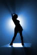 dancer's silhouette