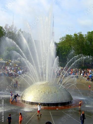 Leinwanddruck Bild seattle fountain