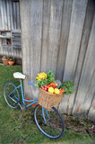 bicycle and vegetables poster