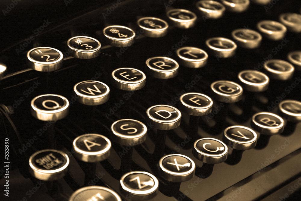 typ typowanie maszyna do pisania - powiększenie
