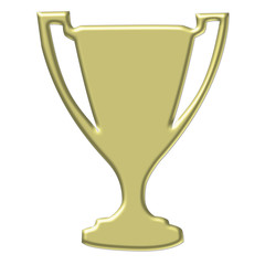 gold trophy - clipart illustration