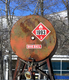 old diesel tank poster