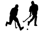 play the field hockey poster