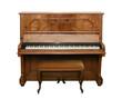 Leinwanddruck Bild - antique piano with path