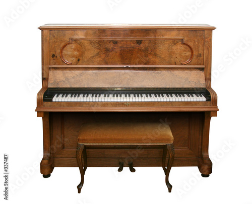 antique piano with path - 337487