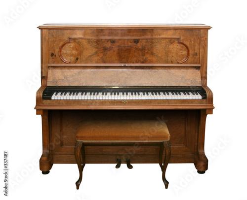 Leinwanddruck Bild antique piano with path