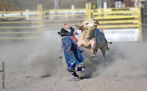 Fotobehang Stierenvechten charging bull