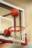 flying basketball poster
