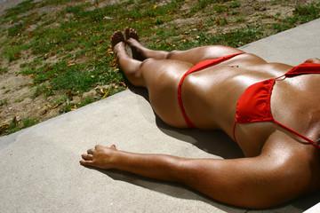bikini roja