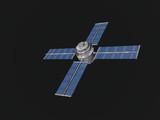 telecommunications satellite poster