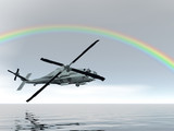 rainbow helicopter poster