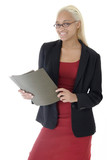 attractive young business woman poster