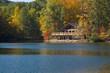 Leinwandbild Motiv lake lodge