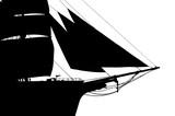 tall ship silouhette poster
