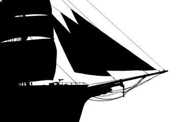 tall ship silouhette