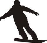 snowboarder silhouette poster