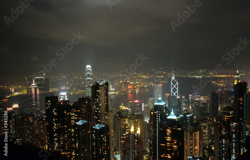 hong kong peak view by night 1