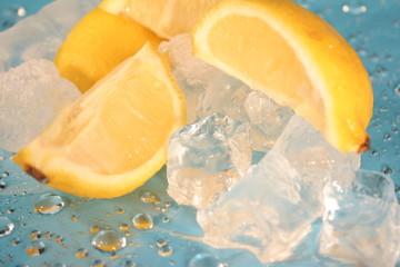 lemon on ice