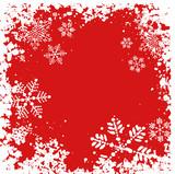 grunge snowflakes poster