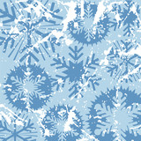 grunge snowflakes poster