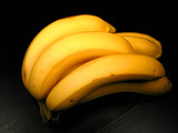 banana bunch on black poster