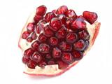 pomegranate on white poster