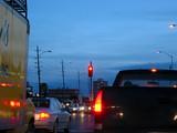 evening traffic poster
