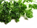 fresh parsley on white background 2 poster