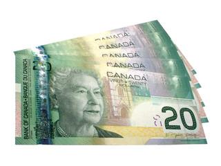 canadian $100 in $20 dollar bills