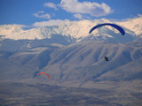 para gliders flying over macedonia poster