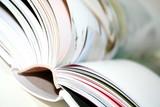 Fototapety blurred book side closeup
