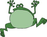 jumping frog poster