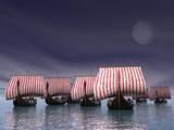 viking fleet poster