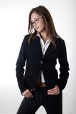pretty young girl in business suit poster