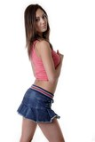 pretty young girl in mini skirt poster