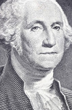 washington in macro on the one dollar poster
